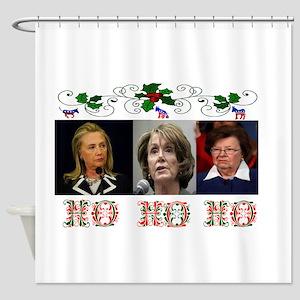 DEMOCRATS XMAS Shower Curtain