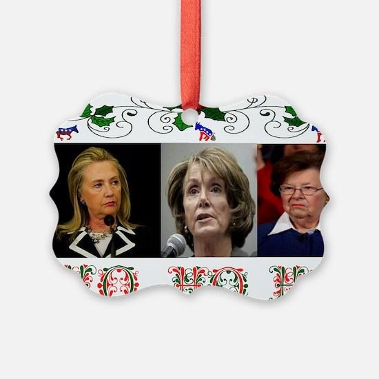 DEMOCRATS XMAS Ornament