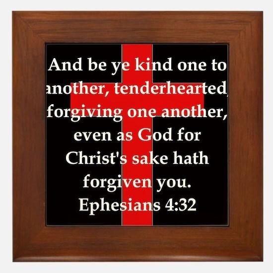 Ephesians 4-32 Framed Tile