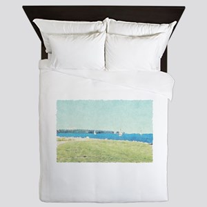 Sailboats on the Lake Queen Duvet