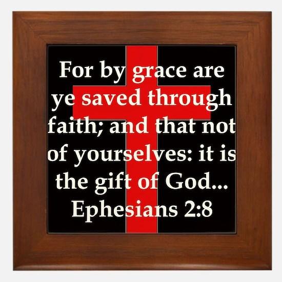 Ephesians 2-8 Framed Tile
