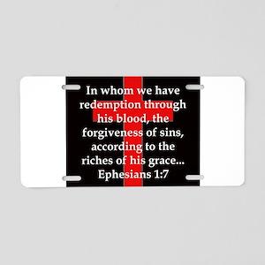 Ephesians 1-7 Aluminum License Plate