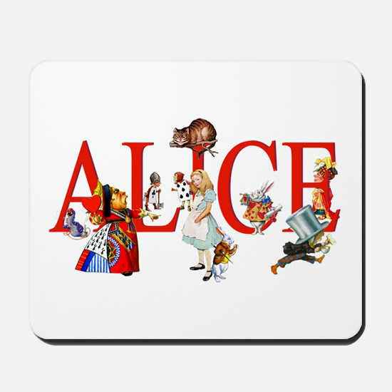 Alice and Her Friends in Wonderland Mousepad