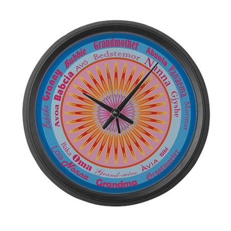 Grandmother World Large Wall Clock