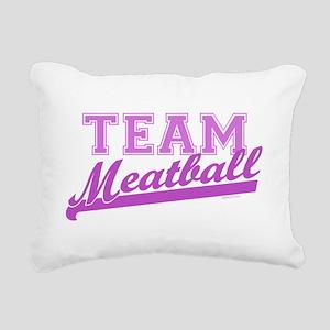 Team Meatball Rectangular Canvas Pillow