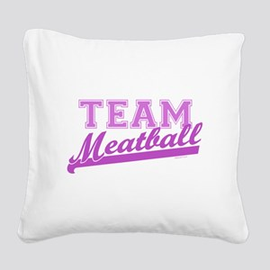 Team Meatball Square Canvas Pillow