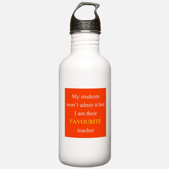 Favourite Teacher RED Water Bottle