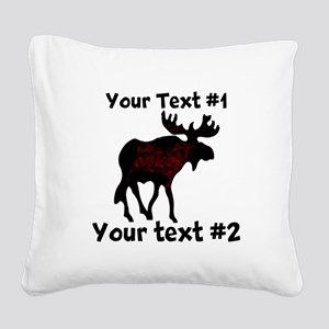 custommoose Square Canvas Pillow