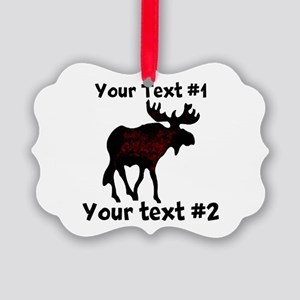 custommoose Picture Ornament
