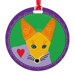 jackal Round Ornament