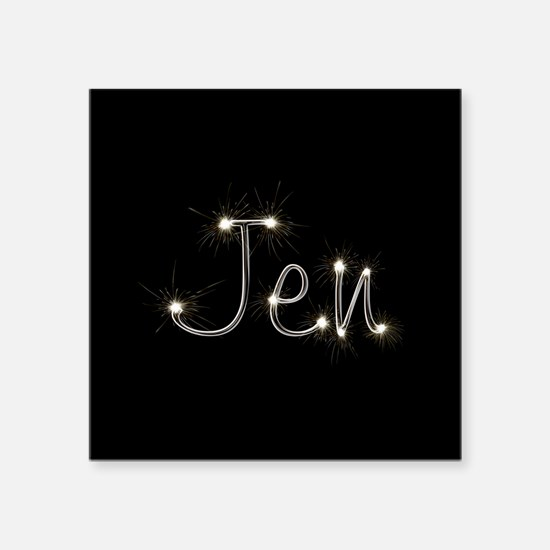 "Jen Spark Square Sticker 3"" x 3"""