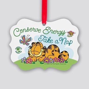 Conserve Energy Picture Ornament