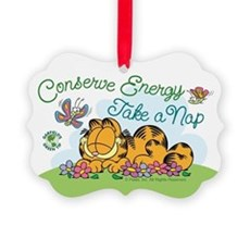 Conserve Energy Picture Ornament