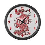 TKD Dragon Large Wall Clock