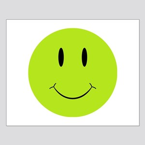 Happy Green Face Small Poster