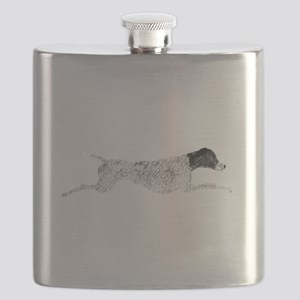 Black & White Leaping GSP Flask