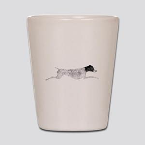 Black & White Leaping GSP Shot Glass
