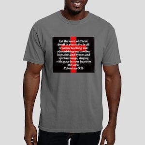 Colossians 3:16 Mens Comfort Colors Shirt