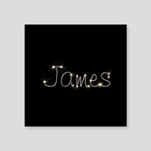 "James Spark Square Sticker 3"" x 3"""