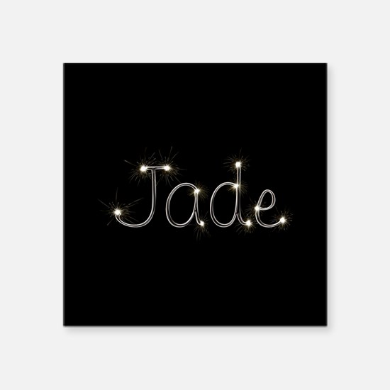 "Jade Spark Square Sticker 3"" x 3"""