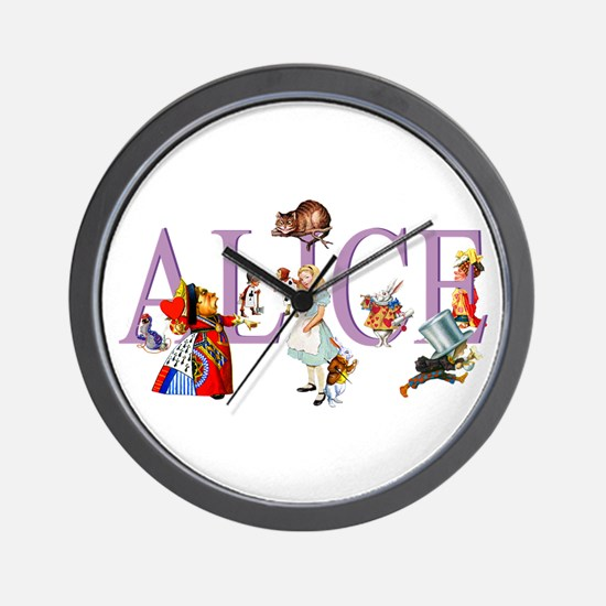 Alice and Her Friends in Wonderland Wall Clock