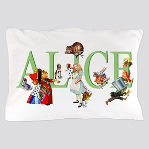 Alice and Her Friends in Wonderland Pillow Case