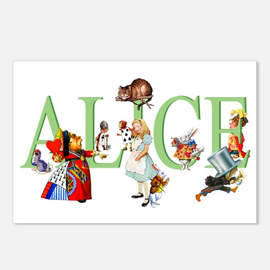 Alice and Her Friends in Postcards (Package of 8)