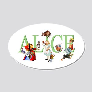 Alice and Her Friends in Won 20x12 Oval Wall Decal