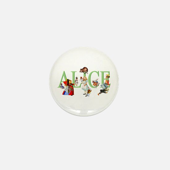 Alice and Her Friends in Wonderland Mini Button