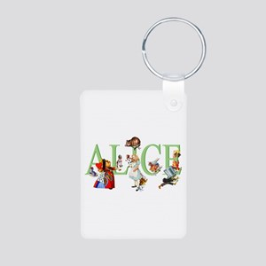 Alice and Her Friends in W Aluminum Photo Keychain