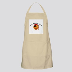 Drank All the Rum Pirate Smiley BBQ Apron