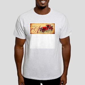 American Classic 1920s Fire Truck Ash Grey T-Shirt