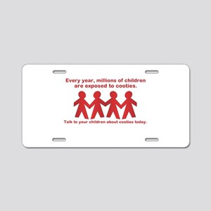 cooties Aluminum License Plate