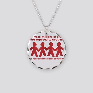 cooties Necklace Circle Charm
