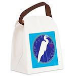 egret Canvas Lunch Bag