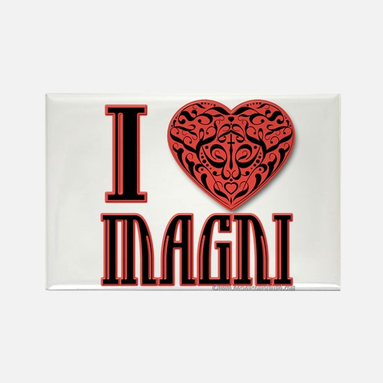 I Love Magni Rectangle Magnet