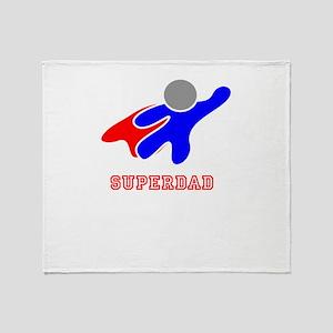 Super Dad Throw Blanket