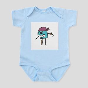 Stick Figure Pirate Infant Creeper