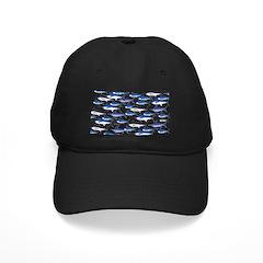 School of Marlin and a Swordfish Baseball Hat