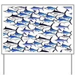 School of Marlin and a Swordfish Yard Sign