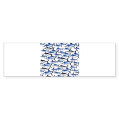 School of Marlin and a Swordfish Bumper Sticker