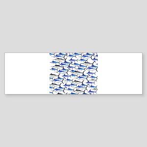 School of Marlin and a Swordfish Sticker (Bumper 1