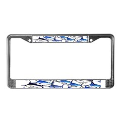 School of Marlin and a Swordfish License Plate Fra
