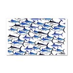 School of Marlin and a Swordfish Car Magnet 20 x 1