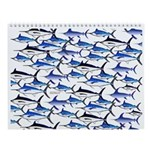 School of Marlin and a Swordfish Wall Calendar
