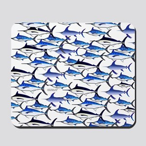 School of Marlin and a Swordfish Mousepad