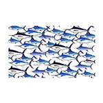 School of Marlin and a Swordfish 35x21 Wall Decal