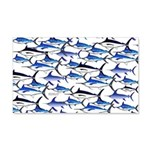 School of Marlin and a Swordfish 20x12 Wall Decal