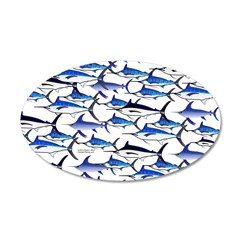 School of Marlin and a Swordfish Wall Decal