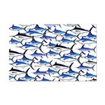 School of Marlin and a Swordfish Mini Poster Print